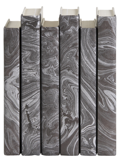 Silver Marble Decorative Book