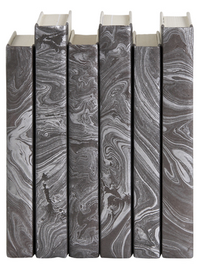 Silver Marble Decorative Book - 13 Hub Lane   |  Book