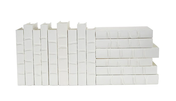 Raised Band-White Deco Books - 13 Hub Lane   |