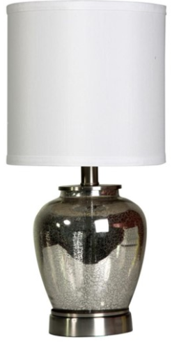 058-Table Lamp - Silver Mercury Glass - 13 Hub Lane - Style Craft Table Lamp