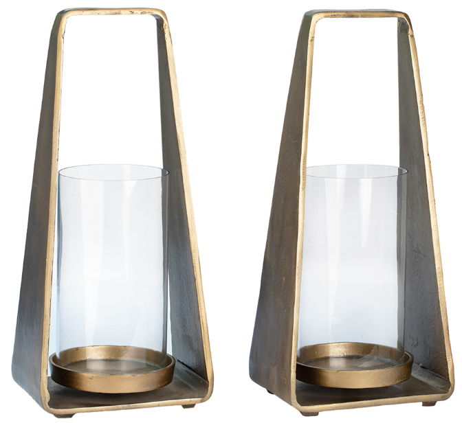 Aluminum and Glass Lantern - 13 Hub Lane   |
