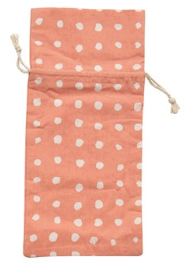 Woven Polka Dot Wine Bag