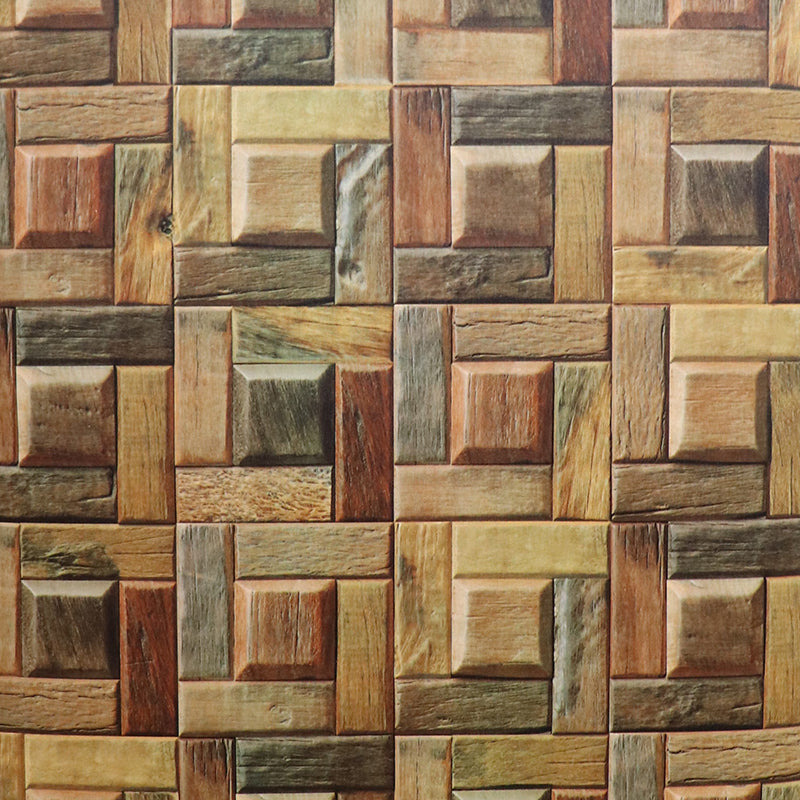 3d squared wooden wallpaper