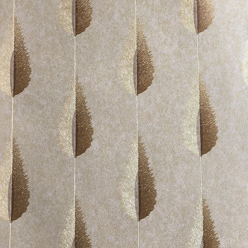 gold feather styled wallpaper