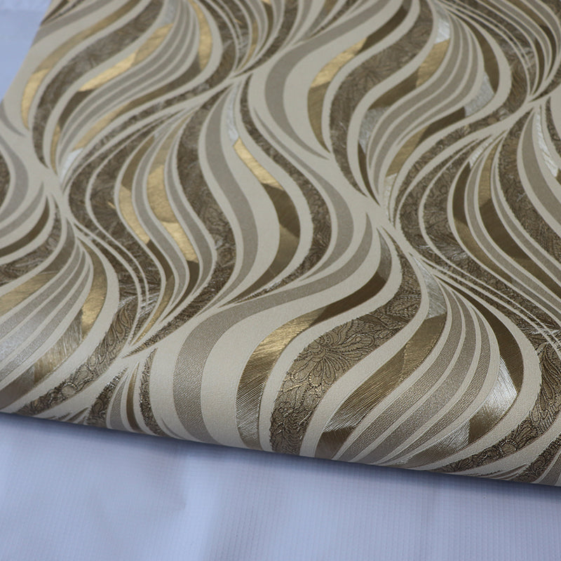 highlighted gold embossed foil spiral pattern