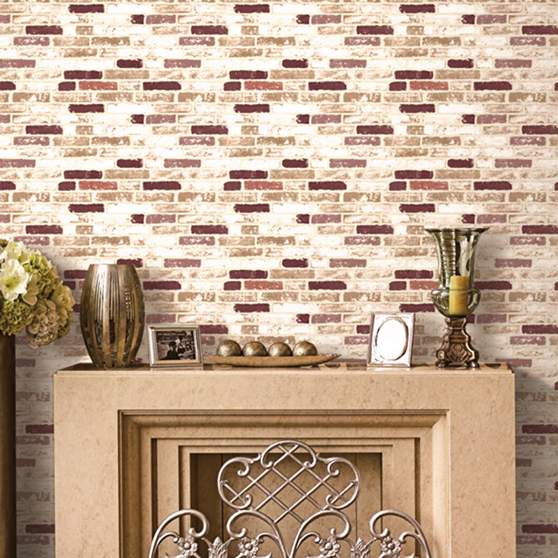 Perfect cream & brown brick styled paper