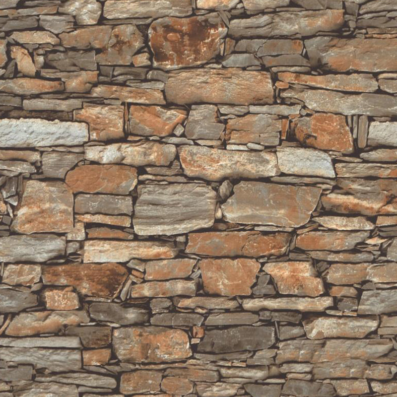 Tiny fitted wall stone wallpaper