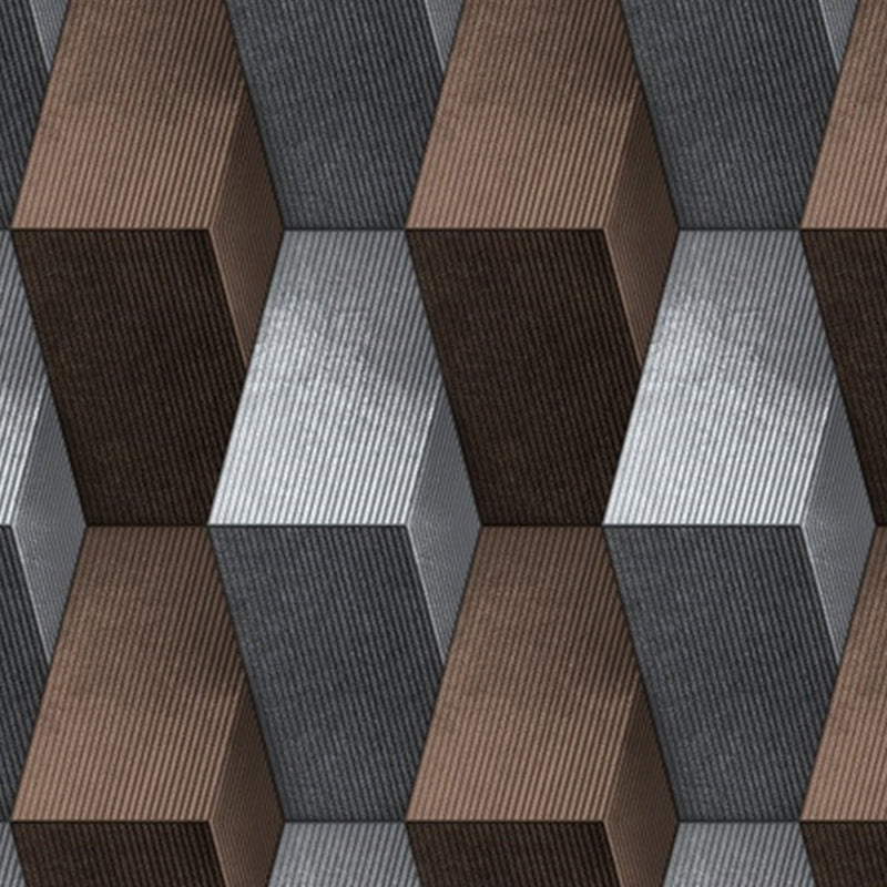 Brown-grey 3d geometric wallpaper