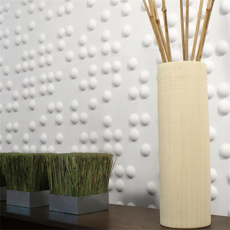 Walleffects Plant Fiber STAR 3D Wall Panels Matt-White (Set 0f 12) 32 Sq.Ft
