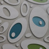 Radiant oval pattern wallpaper