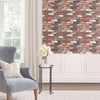 Light shades of brown brick wallpaper