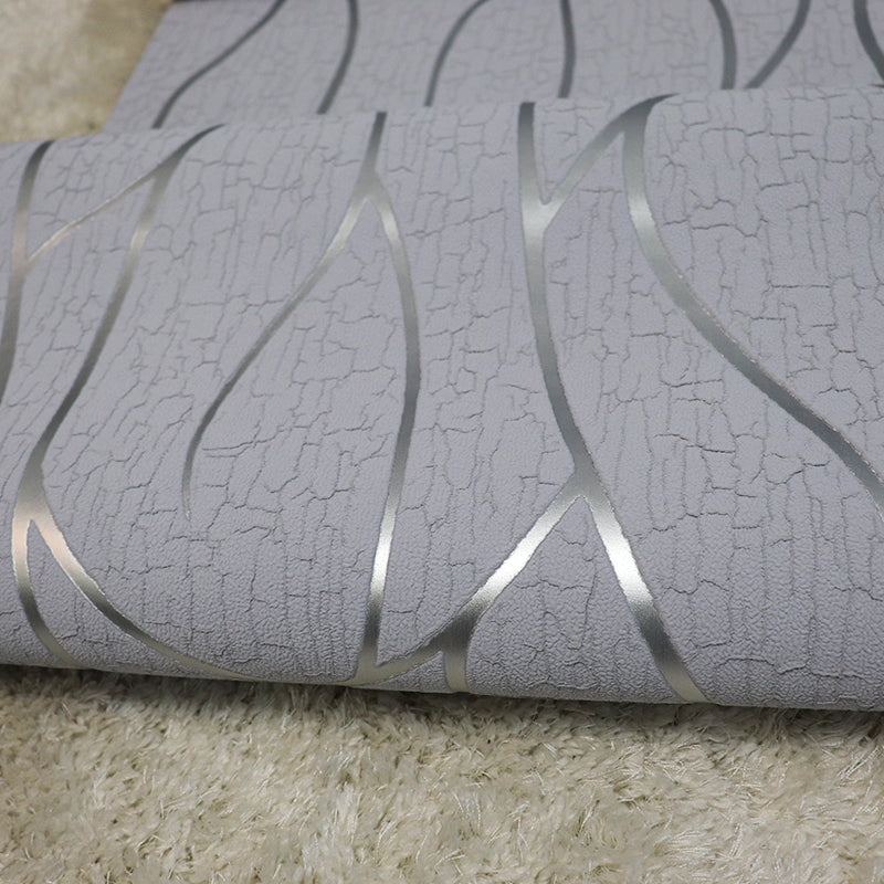 Silver suede embossed stripes