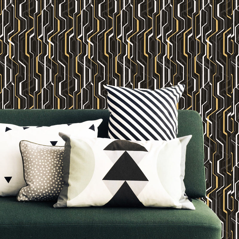 Attractive lines and dotted lines pattern (dark)