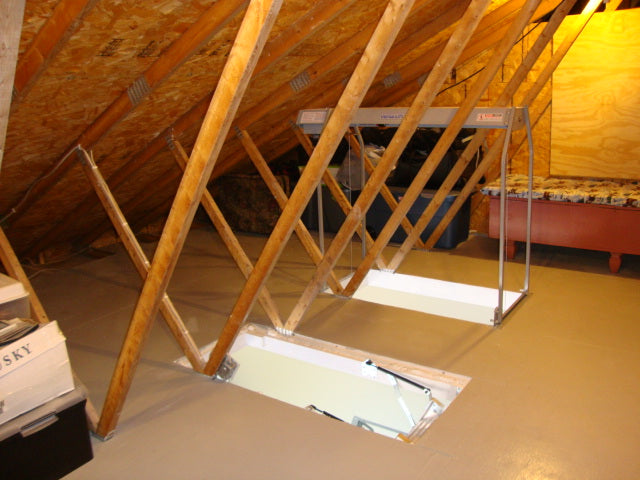 rafters in attic