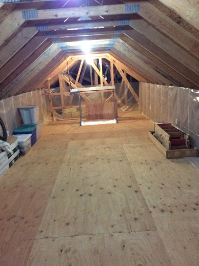 large empty attic