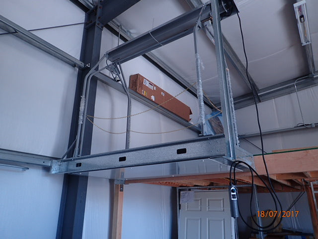 steel framing for garage lift