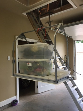 ultimate attic lift in garage