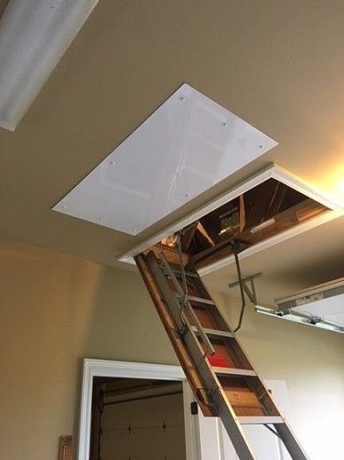 attic lift near garage door