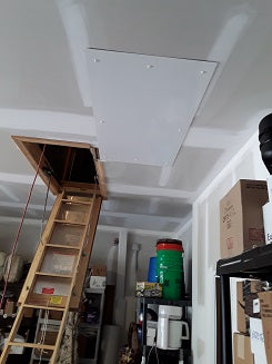 attic ladder in down position
