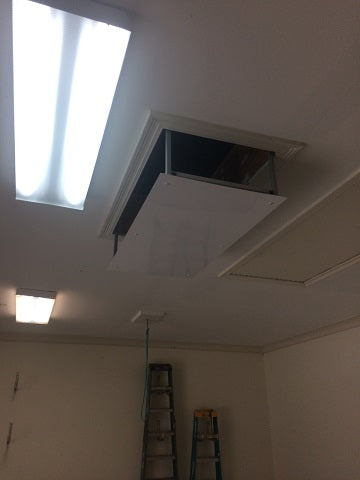 attic lift near ceiling