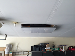 organized garage and attic hoist
