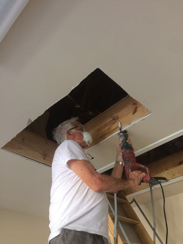 Cutting hole in Garage Ceiling for the Attic Lift