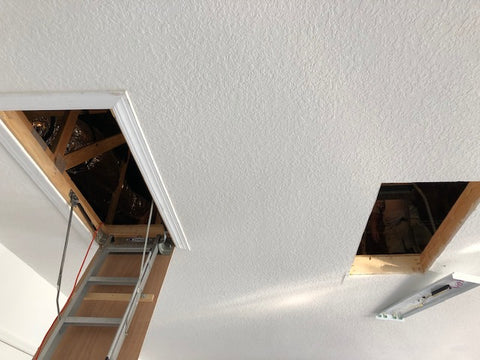 VersaLift and Attic Stairs opening from Garage View