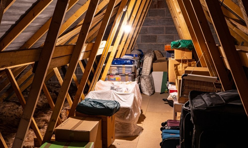 How To Turn Your Unfinished Attic Into a Storage Space