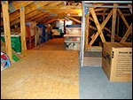 attic with storage
