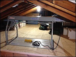 versalift 24 corded model in attic