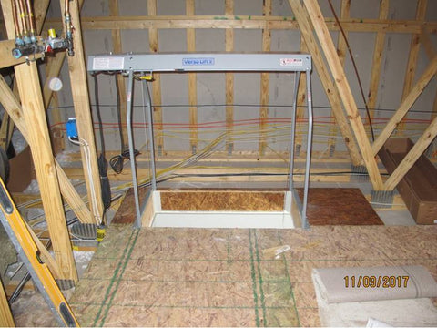 VersaLift Head and Legs installed in Attic