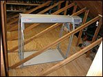 truss legs in attic side view