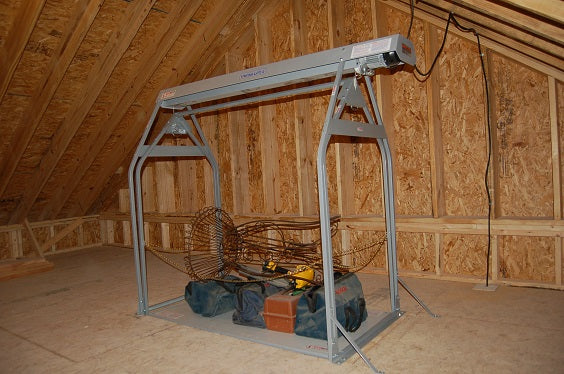 tools on attic lift