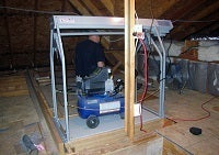 attic lift with air compressor