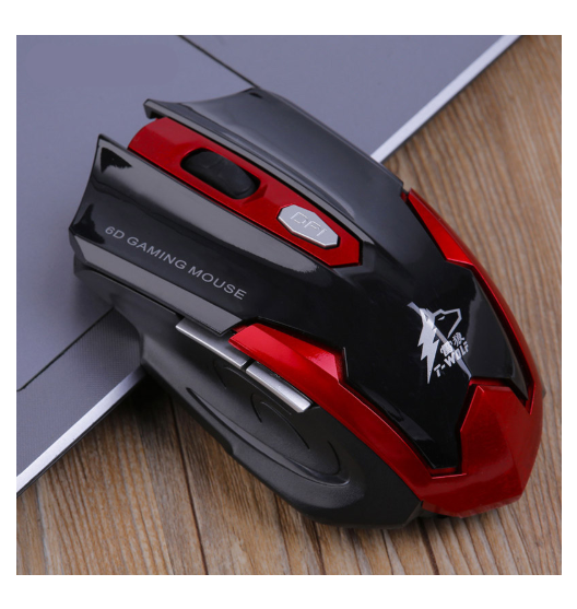 Gaming Mouse T-WOLF Q7 Silent Wireless Optical 2.4GHz 2400DPI - Linzh Store