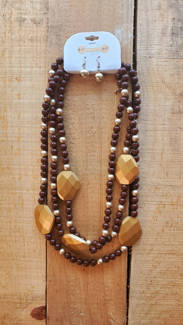 Iliany Necklace- Brown