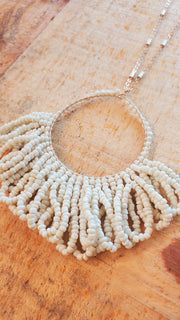 Seed Beads Pendant Long Necklace
