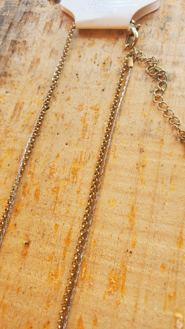 Double Layer Long Necklace