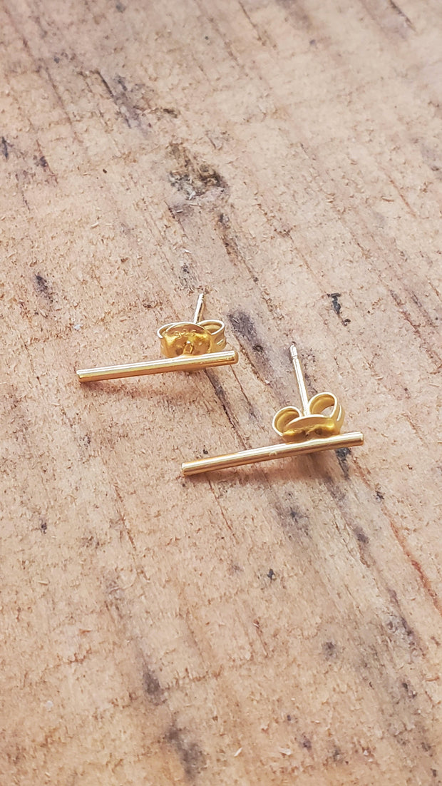 Thin Long Bar Goldfield Earrings