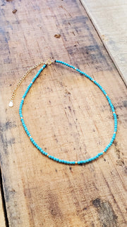 Turquoise Choker Goldfield Necklace
