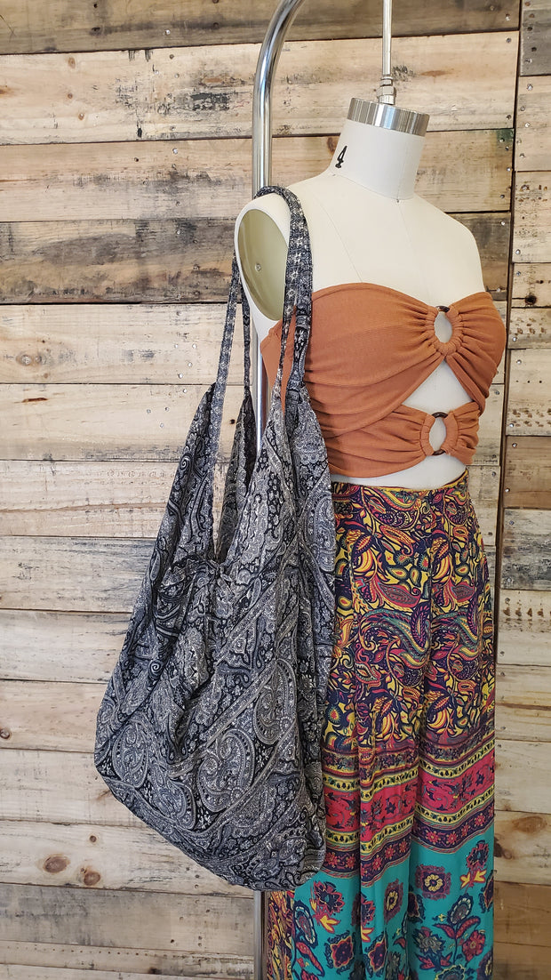 Woven Cotton Hippie Banana Handbag
