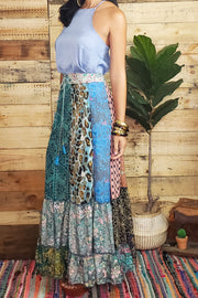 Hippie Patchwork Maxi Skirt