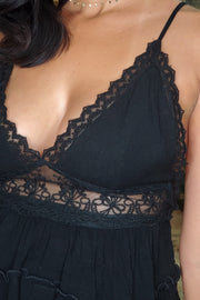 Baby Doll Lace Top- Black