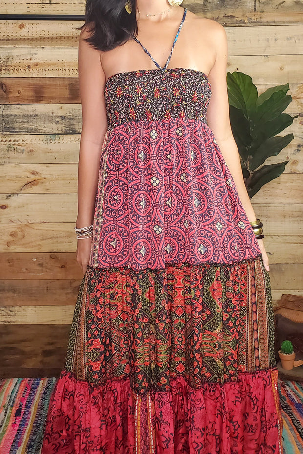 Bohemian Patchwork Maxi Dress