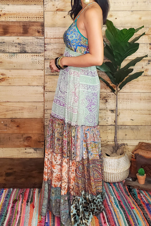 Gypsy Patchwork Maxi Dress