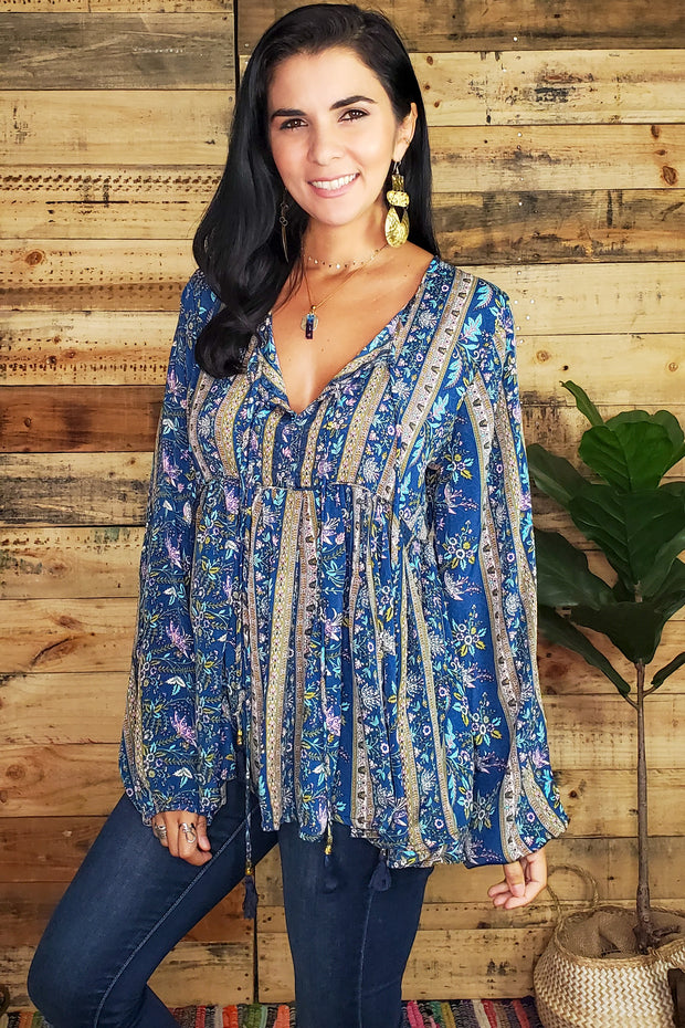 Bohemian Long Sleeve Top
