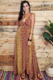 Estela Surplice Maxi Dress