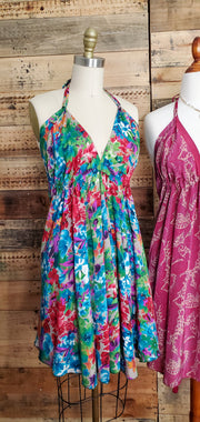 Bohemian Halter Short Dress