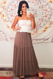 Boho Strapless Top- Ivory