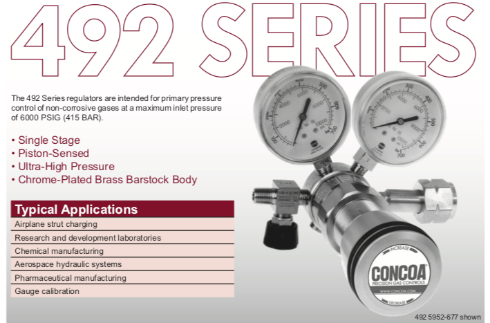 492 Series Concoa Regulator